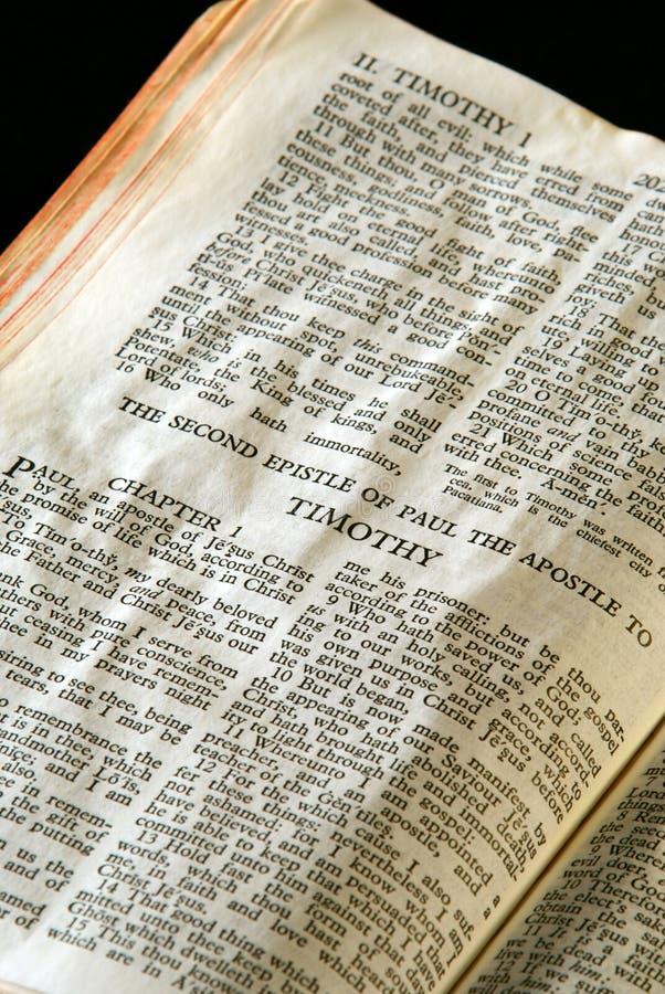 De Reeks Timothy2 van de bijbel stock foto