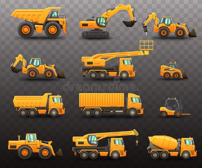 De reeks van bouwmachines royalty-vrije illustratie