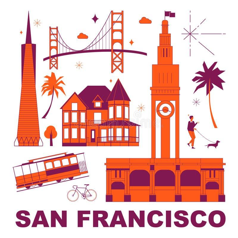 De reeks van de de cultuurreis van San Francisco stock foto's