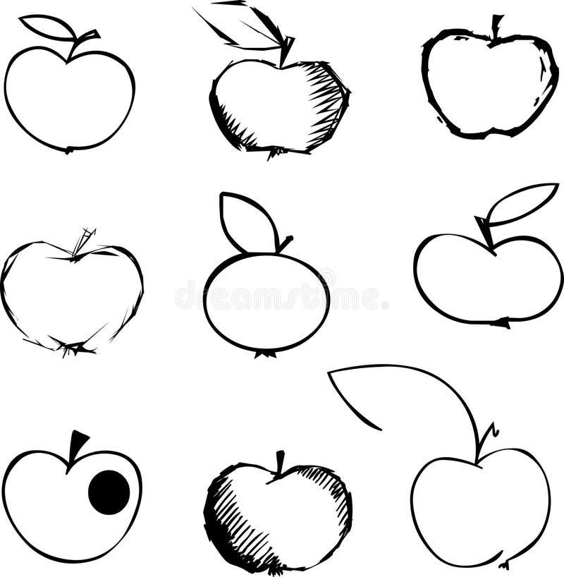 De reeks van de appel vector illustratie