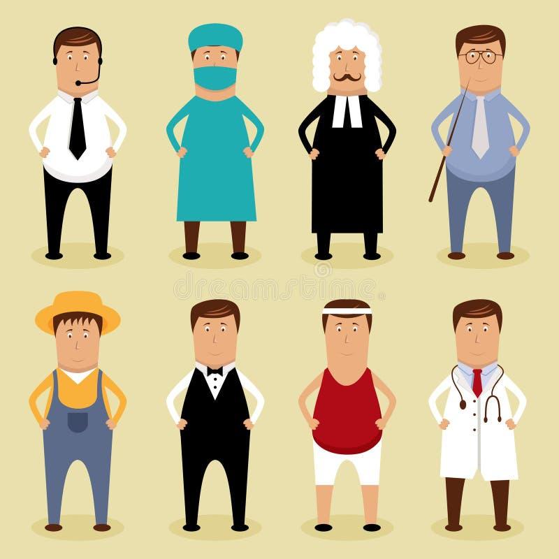 De reeks van de arbeider stock illustratie