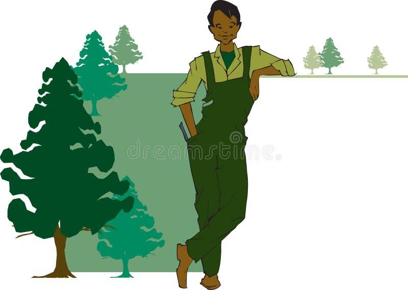 De reeks van de baan - houtvester stock illustratie