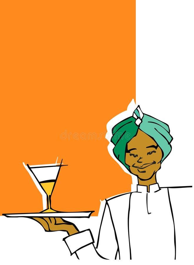De reeks van de baan - kelner royalty-vrije illustratie