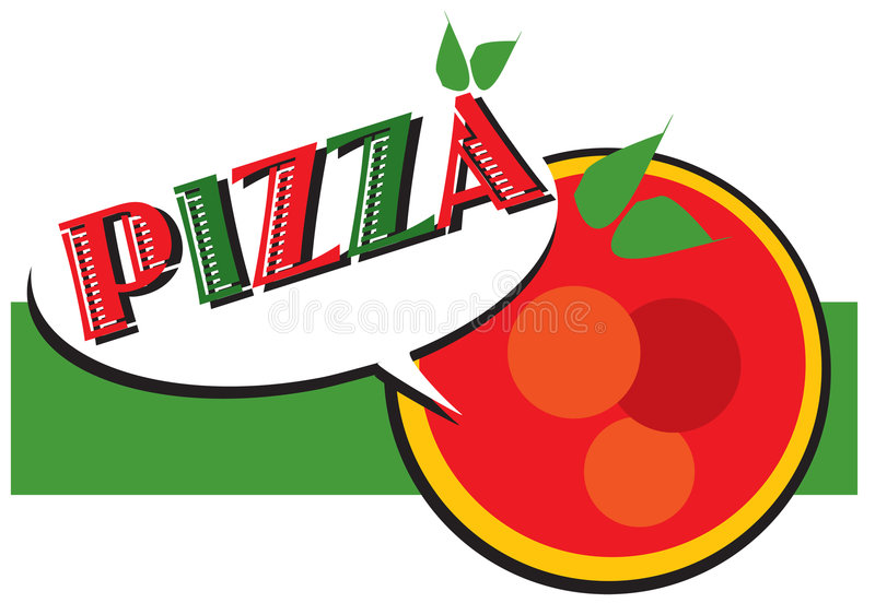 De reeks van de baan - pizzaembleem royalty-vrije illustratie