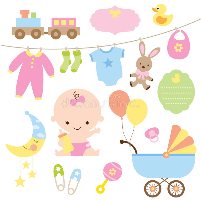 De Reeks van de baby stock illustratie