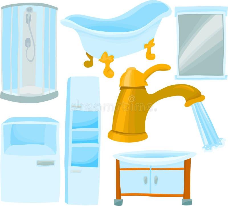 De reeks van de badkamers vector illustratie