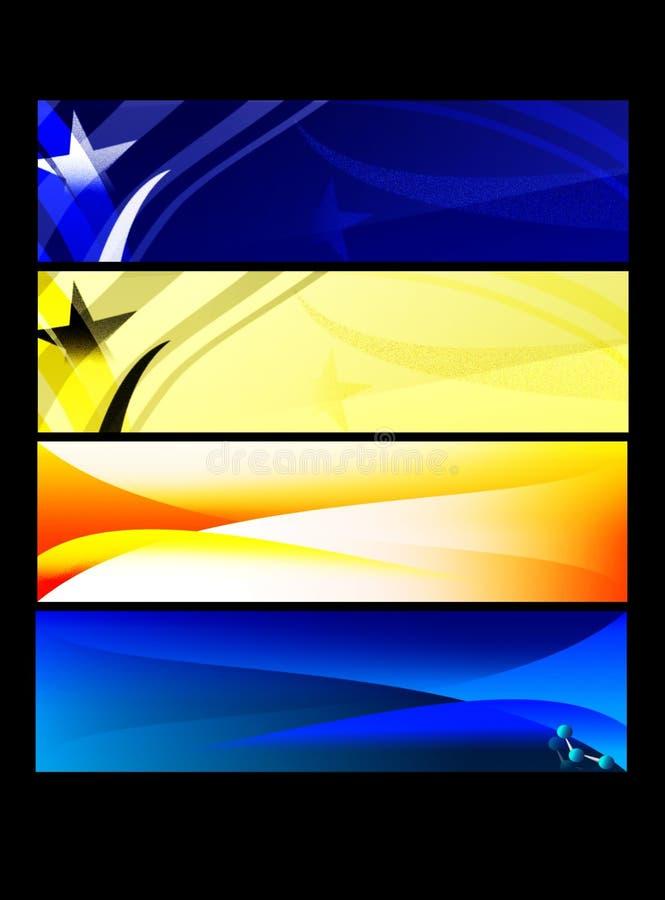 De reeks van de banner stock illustratie