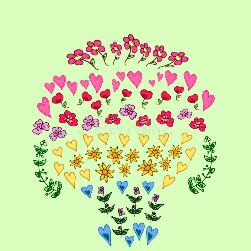 De reeks van de bloem stock fotografie