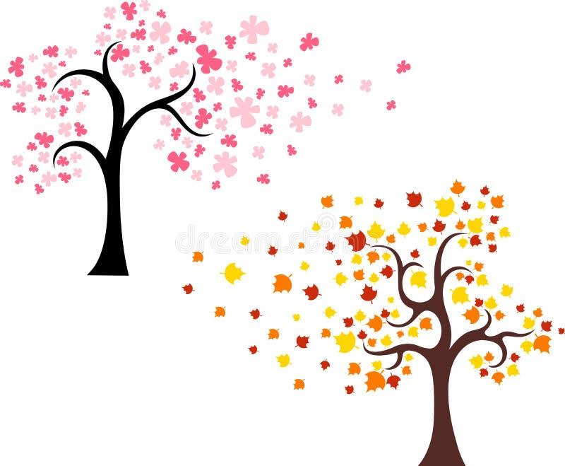 De reeks van de boom stock illustratie