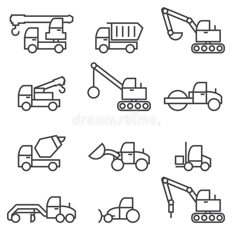 De reeks van de bouwauto royalty-vrije illustratie