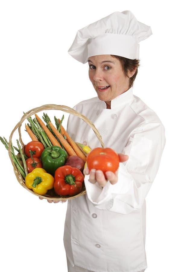 De Reeks van de chef-kok - Tomaat voor u royalty-vrije stock foto's