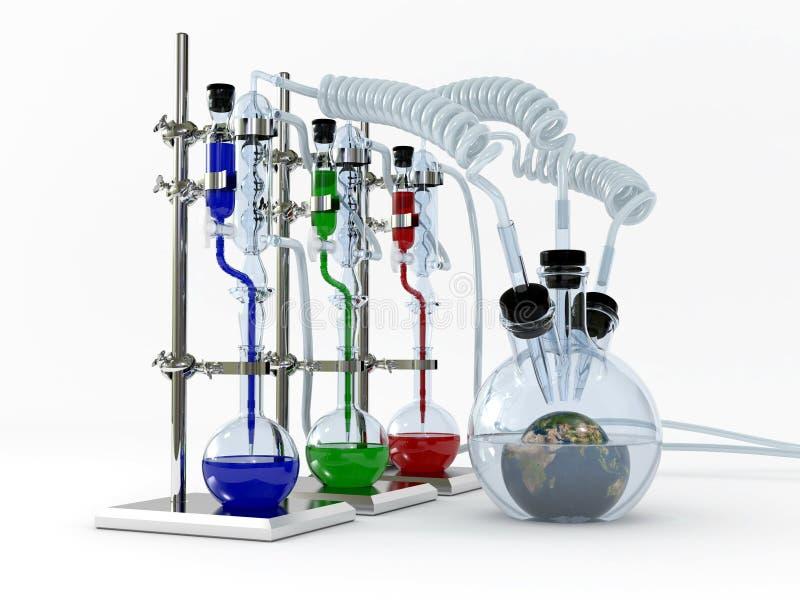 De reeks van de chemie royalty-vrije illustratie