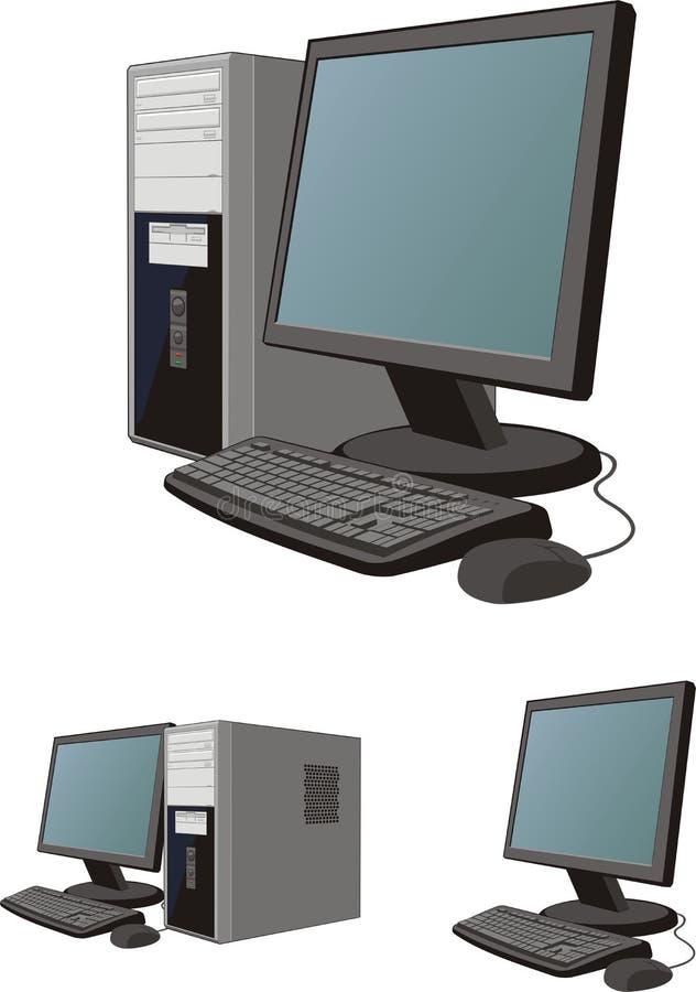 De reeks van de computer stock illustratie