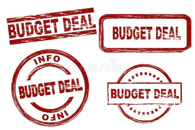 De reeks van de de inktzegel van de begrotingsovereenkomst stock fotografie