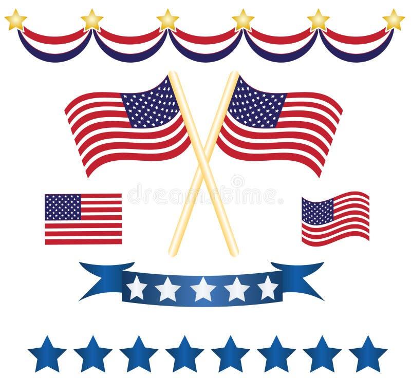 De reeks van de de onafhankelijkheidsdecoratie van de V.S. royalty-vrije illustratie