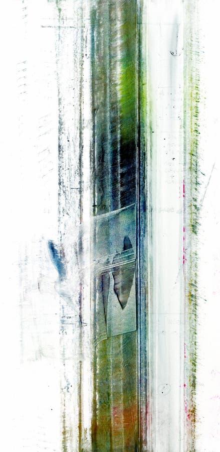 De reeks van de de verftextuur van het poeder stock illustratie