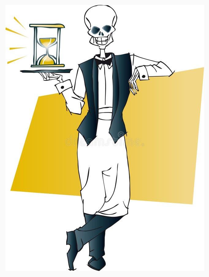 De reeks van de dood - kelner stock illustratie