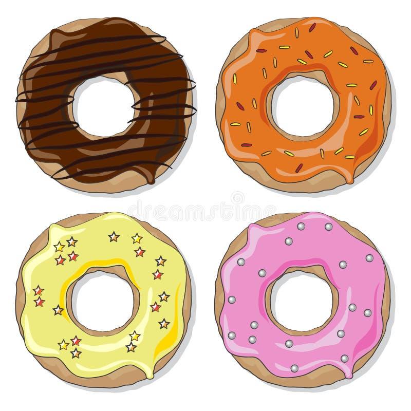 De reeks van de doughnut vector illustratie