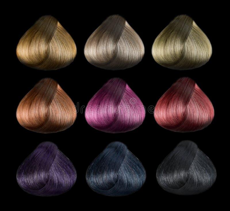 De reeks van de haarkleur royalty-vrije stock afbeeldingen