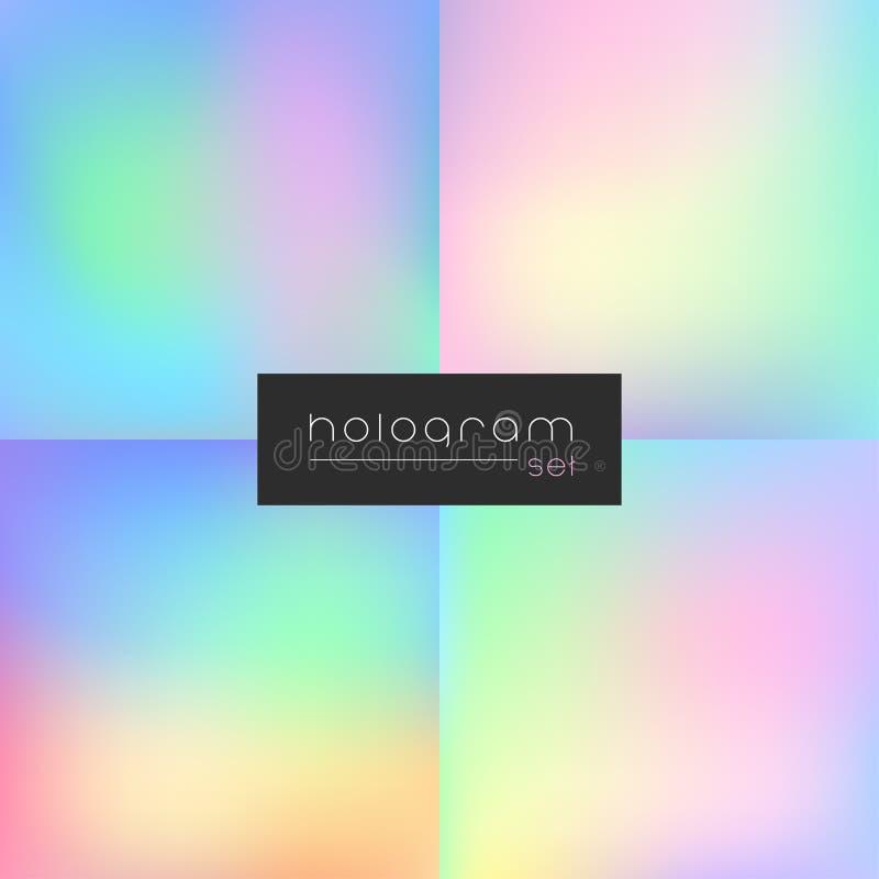 De reeks van de hologramgradiënt royalty-vrije illustratie