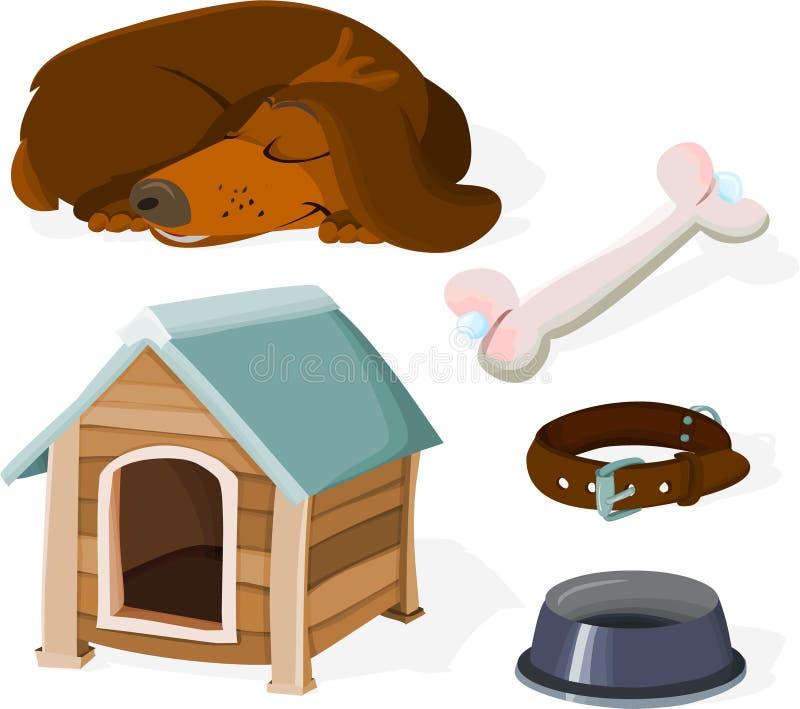 De reeks van de hond vector illustratie