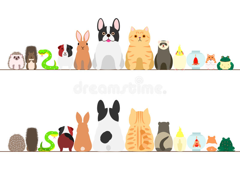 De reeks van de huisdierengrens royalty-vrije illustratie