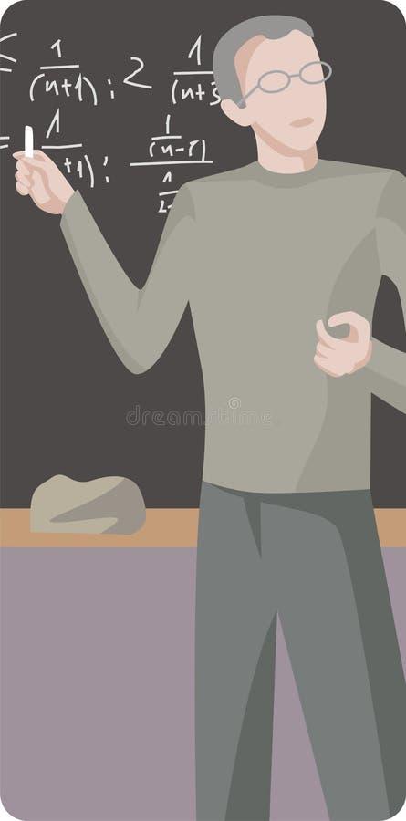 De Reeks van de Illustratie van de leraar stock illustratie