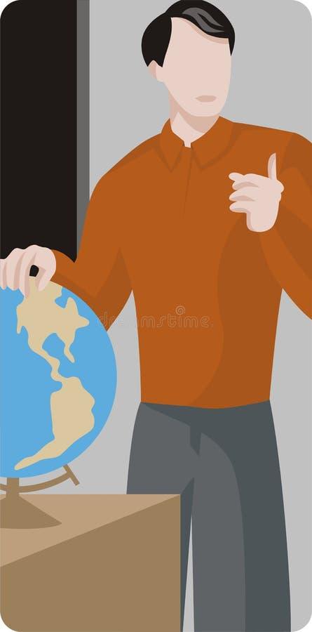 De Reeks van de Illustratie van de leraar vector illustratie