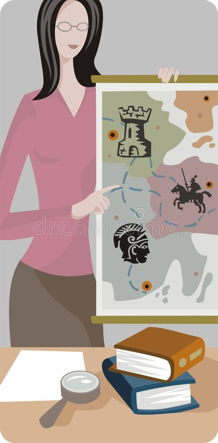 De Reeks van de Illustratie van de leraar royalty-vrije illustratie