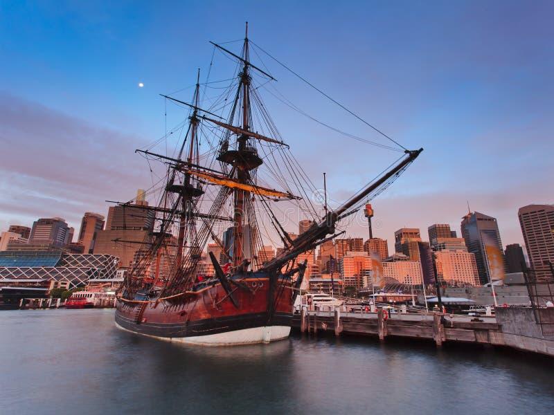 De Reeks van de Inspanning van de Haven van Darl van het schip royalty-vrije stock foto's