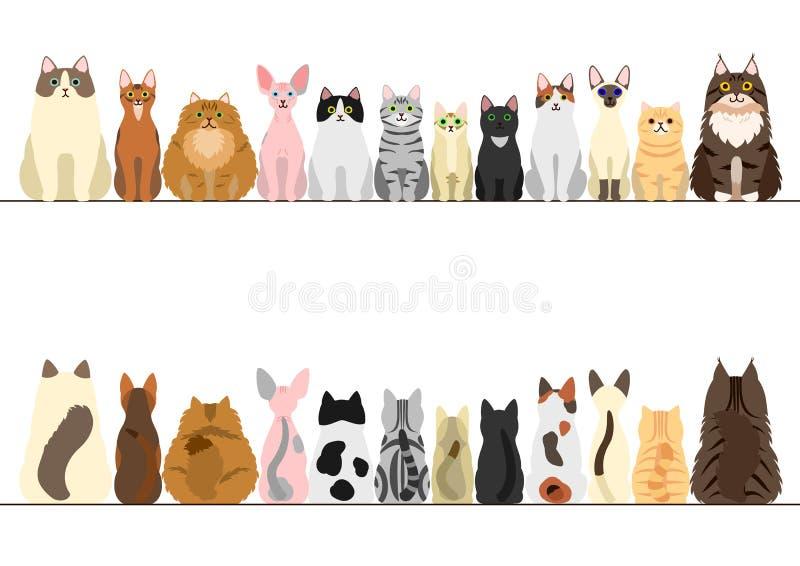 De reeks van de kattengrens stock illustratie