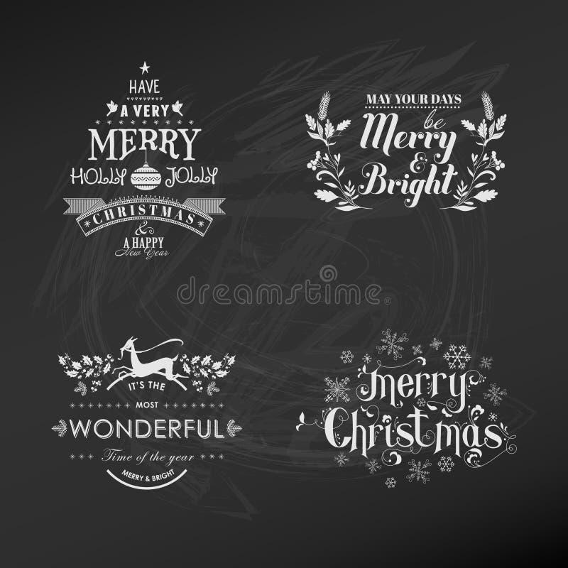 De reeks van de Kerstmisdecoratie vector illustratie