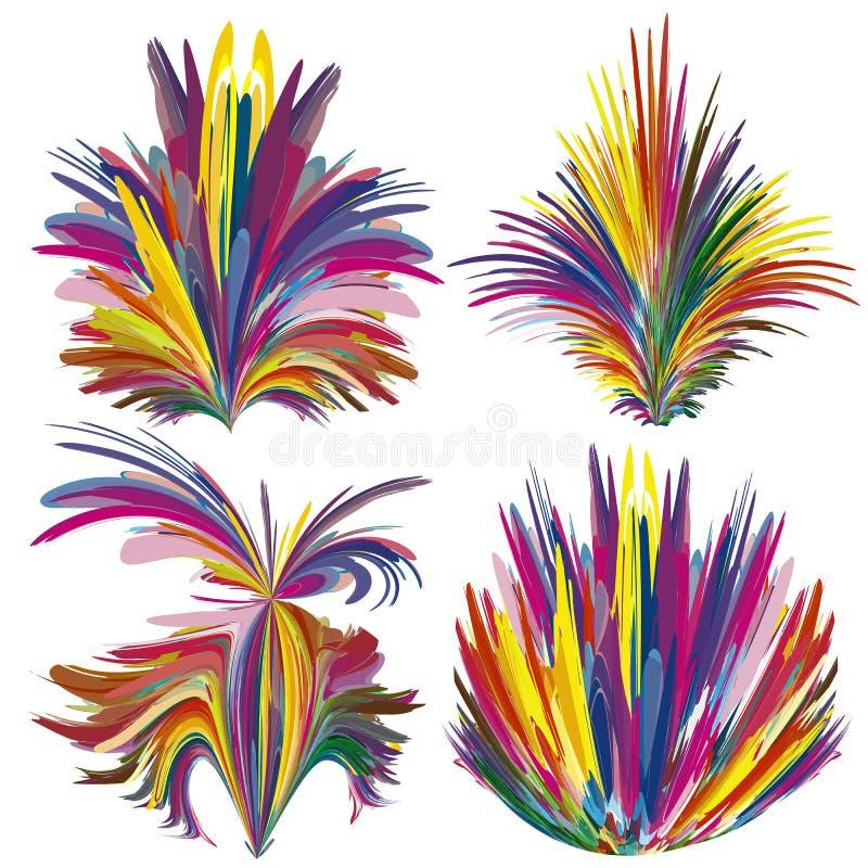 De Reeks van de kleurenfontein stock illustratie