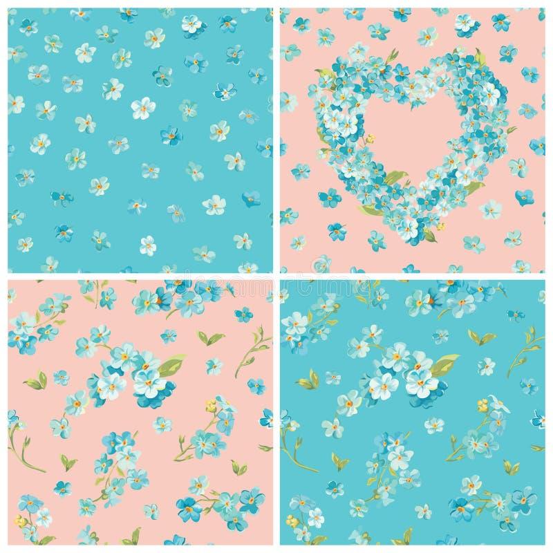 De reeks van de Lentebloesem bloeit Achtergronden vector illustratie
