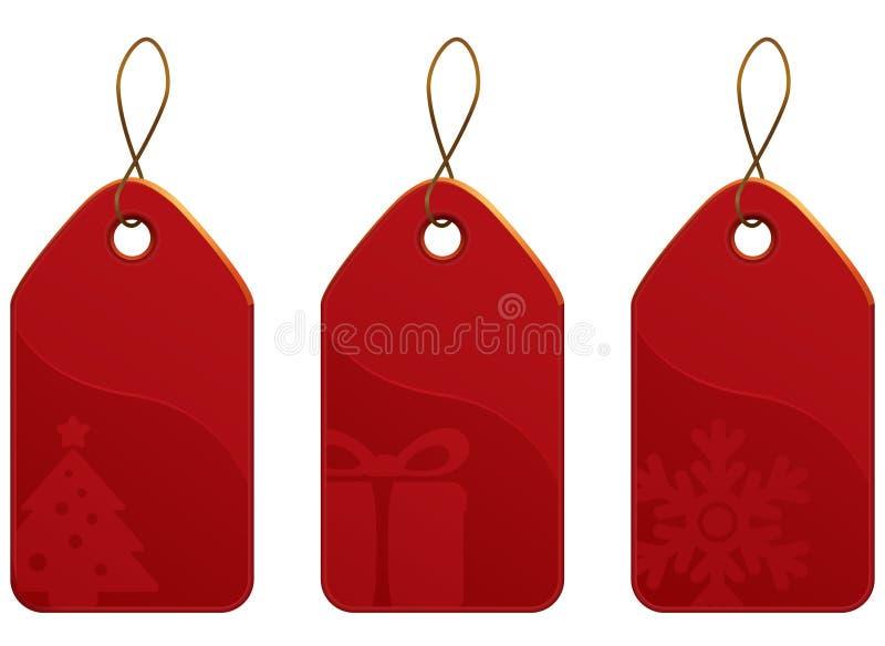 De Reeks van de Markering van Kerstmis vector illustratie