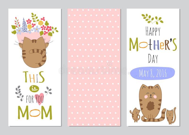 De reeks van de moedersdag banners stock illustratie