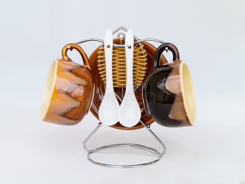 De reeks van de Mok van de koffie royalty-vrije stock foto's
