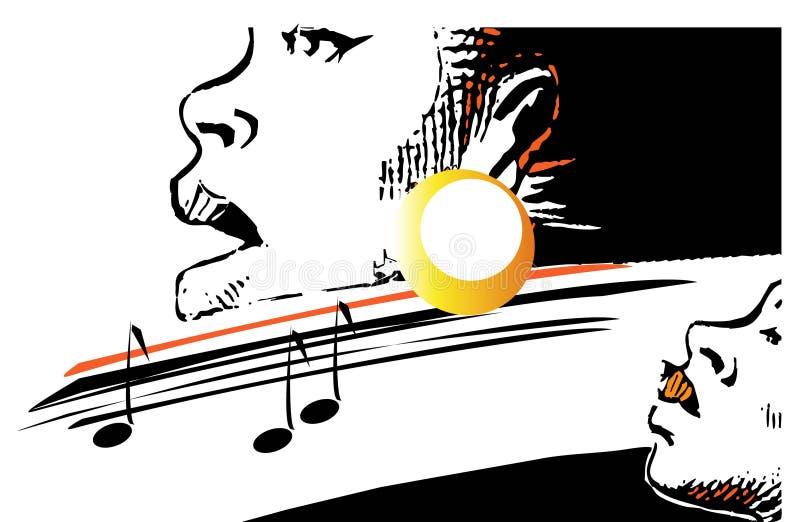 De reeks van de muziek - jazz royalty-vrije illustratie