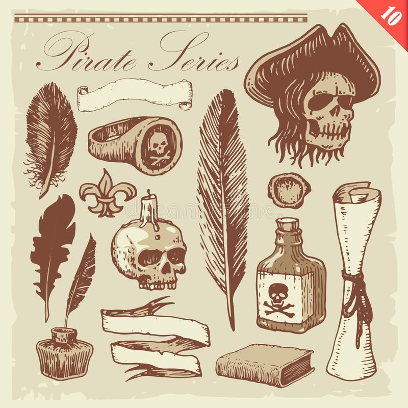 De Reeks van de piraat vector illustratie