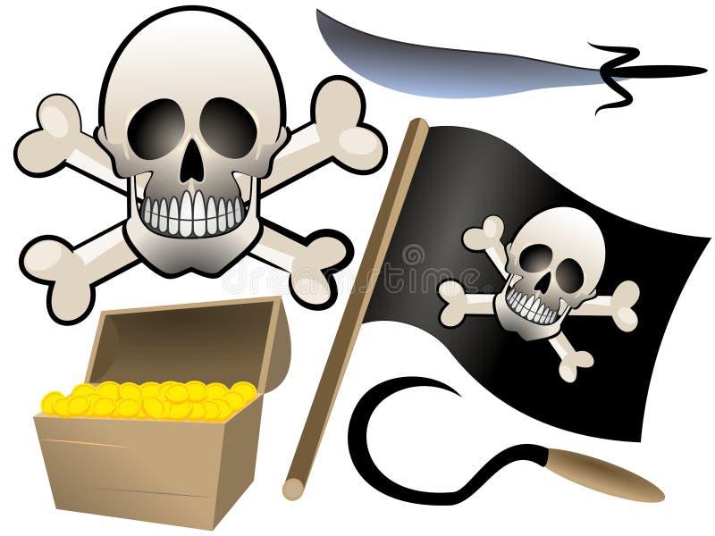 Piraterijreeks stock foto