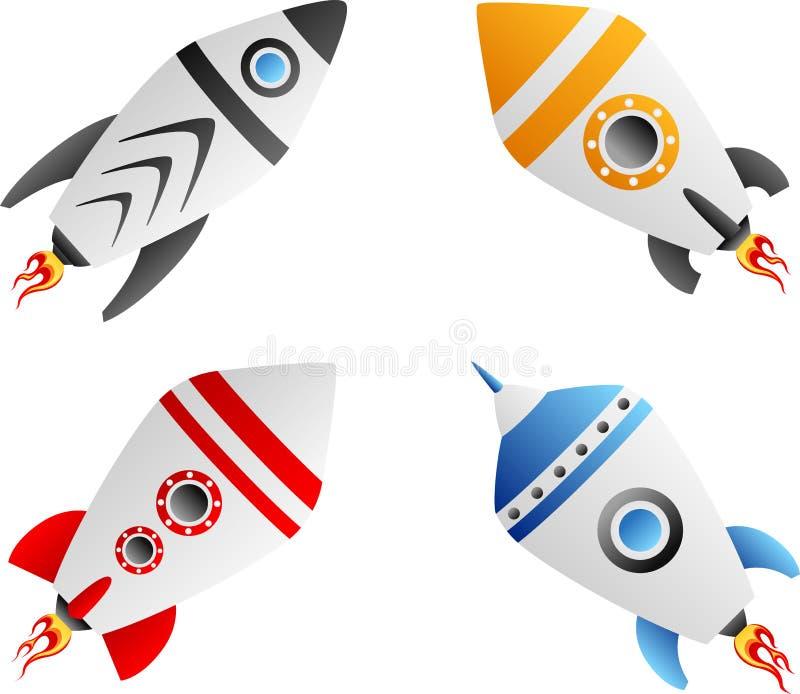 De reeks van de raket royalty-vrije illustratie