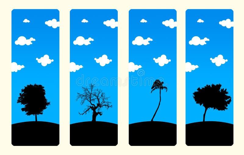 De reeks van de Referentie van de Bomen van de hoge Resolutie vector illustratie