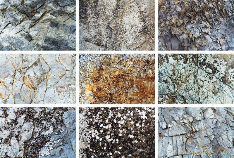 De reeks van de rotstextuur royalty-vrije stock fotografie