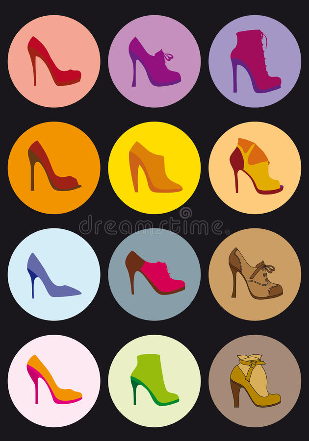 De reeks van de schoen, vector vector illustratie