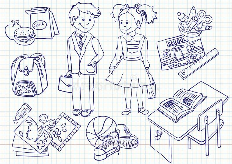 De reeks van de school royalty-vrije illustratie