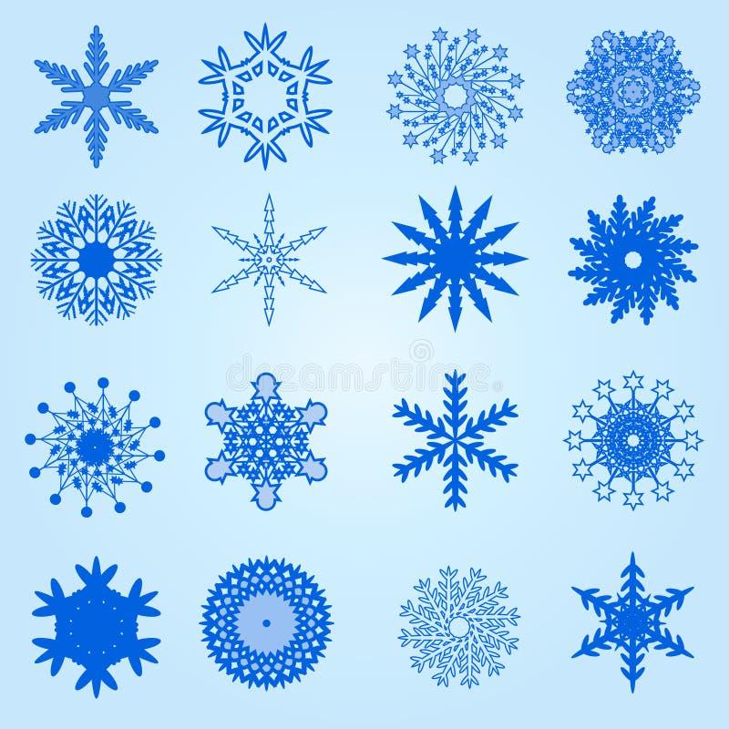 De reeks van de sneeuwvlok royalty-vrije illustratie