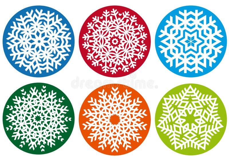 De reeks van de sneeuwvlok, vectorontwerpelementen vector illustratie