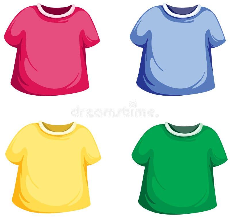 De reeks van de t-shirt royalty-vrije illustratie