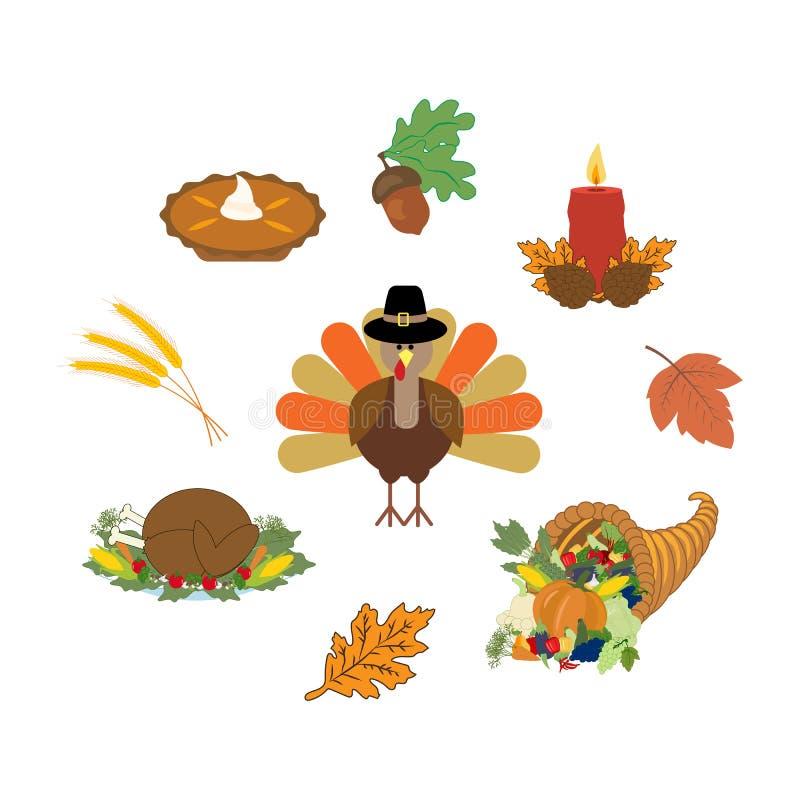 De reeks van de Thankgivingsdag royalty-vrije illustratie