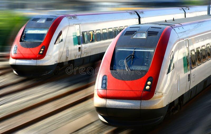 De Reeks van de trein stock fotografie